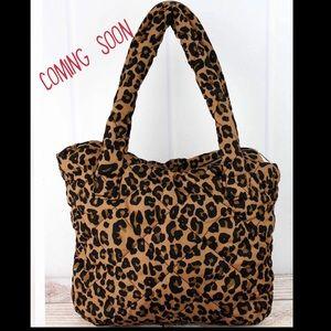 Leopard Love Puffer Tote